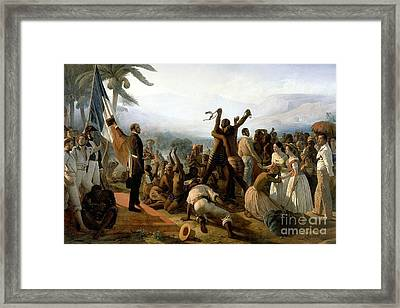 The Abolition Of Slavery In The French Colonies  Framed Print by MotionAge Designs