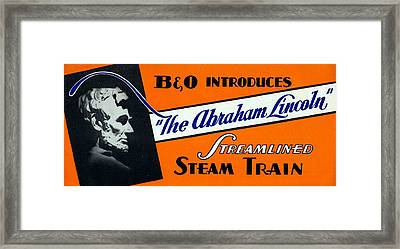 The Abraham Lincoln Framed Print