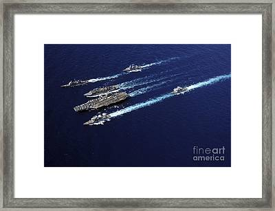 The Abraham Lincoln Carrier Strike Framed Print