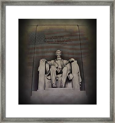 The Abraham Lincoln Memorial Framed Print by Bill Cannon