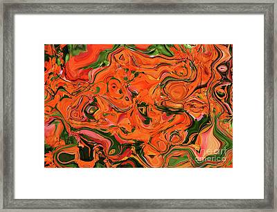 The Abstract Days Of Autumn Framed Print by Andee Design