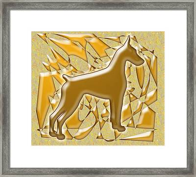 Dobermans, Magnificent Framed Print by Maria C Martinez