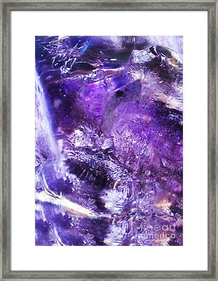 The Crystal Abundance Dragon Framed Print by The Crystal Deities Special Collection