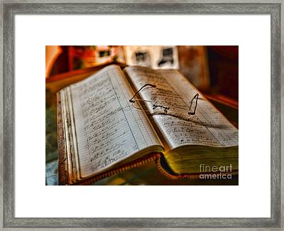 The Accountant's Ledger Framed Print by Paul Ward