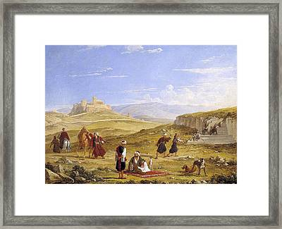 The Acropolis And Areopagus Framed Print by Franz Ludwig Catel