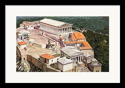 The Acropolis Framed Prints