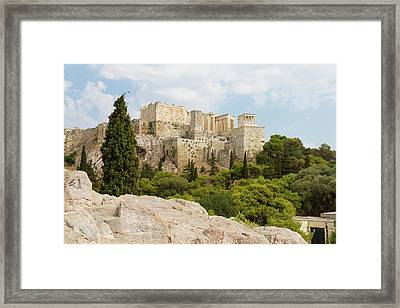 The Acropolis Of Athens, Greece Framed Print