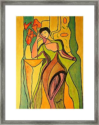 The Actress.... Framed Print