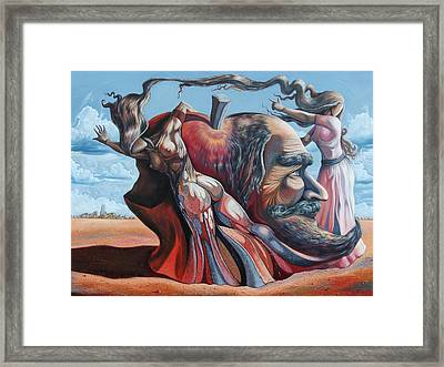 The Adam-eve Delusion Framed Print