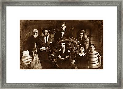 The Addams Family Sepia Version Framed Print