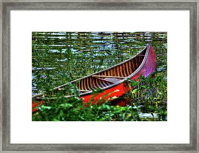 The Adirondack Guide Boat Framed Print by David Patterson