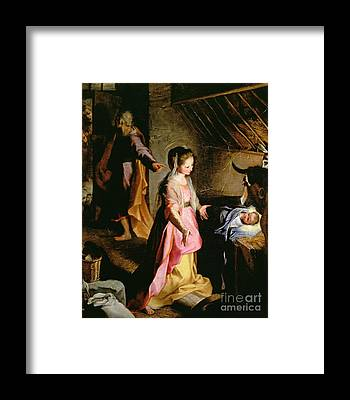 Birth Of Christ Framed Prints
