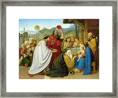 The Adoration Of The Kings Framed Print by Bridgeman