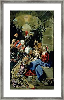 The Adoration Of The Kings Framed Print by Fray Juan Batista Maino