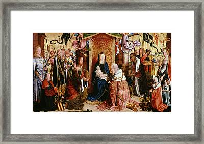 The Adoration Of The Kings Framed Print by Master of Saint Severin