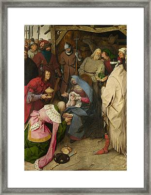 The Adoration Of The Kings Framed Print by Pieter Bruegel the Elder