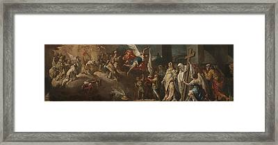 The Adoration Of The Lamb Framed Print by Gaspare Diziani