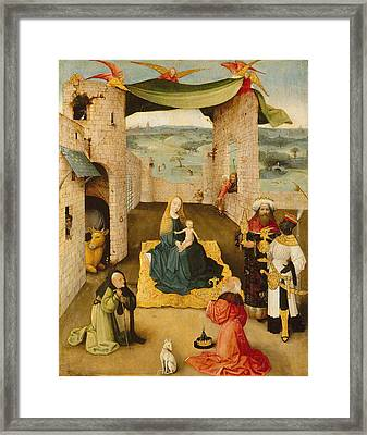 The Adoration Of The Magi 1475 Framed Print by Hieronymus Bosch