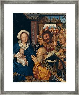 The Adoration Of The Magi, 1526 Framed Print by Quentin Massys or Metsys