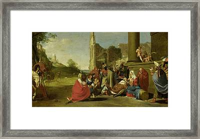 The Adoration Of The Magi Framed Print by Bartholomeus Breenbergh