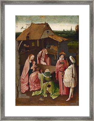 The Adoration Of The Magi, Epiphany Framed Print by Hieronymus Bosch