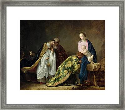 The Adoration Of The Magi Framed Print by Pieter Fransz de Grebber