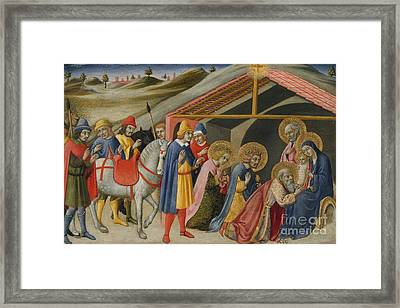 The Adoration Of The Magi Framed Print by Sano di Pietro or Ansano di Pietro di Mencio