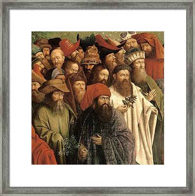 The Adoration Of The Mystic Lamb Framed Print by Van Eyck