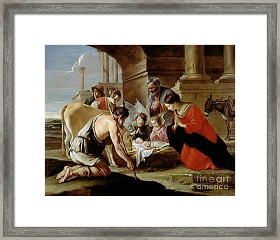 The Adoration Of The Shepherds Framed Print by Louis Le Nain