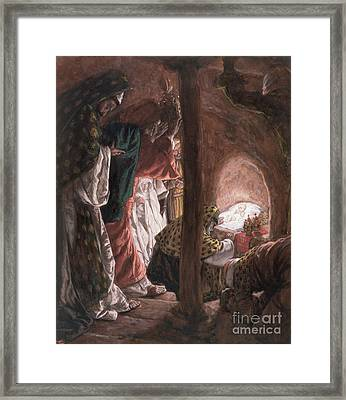 The Adoration Of The Wise Men Framed Print by Tissot