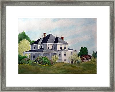 The Adrian Shuford House - Spring 2000 Framed Print by Joel Deutsch