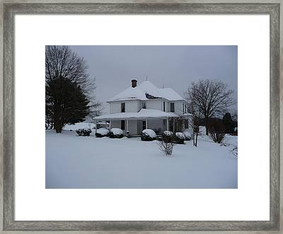 Framed Print featuring the photograph The Adrian Shuford House - Winter 2010 by Joel Deutsch