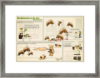 The Adventures Of Dr Ogel Framed Print by Mark Fuller
