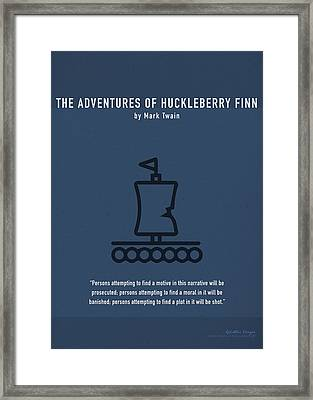 The Adventures Of Huckleberry Finn Greatest Books Ever Series 009 Framed Print