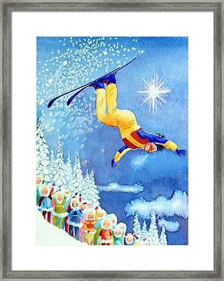 The Aerial Skier 18 Framed Print by Hanne Lore Koehler