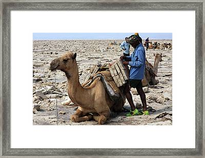 The Afar People  Framed Print