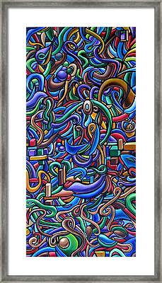 The After Party, Another Party - Chromatic Abstract Painting - Ai P. Nilson Framed Print
