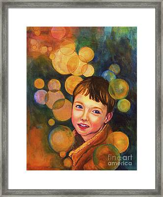 Framed Print featuring the painting The Afterglow by Angelique Bowman