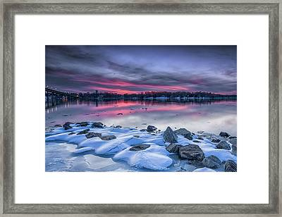 Framed Print featuring the photograph The Afterglow by Edward Kreis