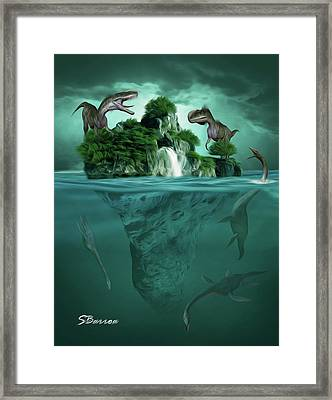 The Age Of Dinosaurs Framed Print by Surreal Photomanipulation