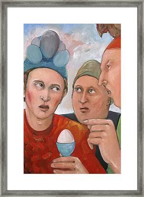 The Age Old Debate Framed Print by Paula Wittner