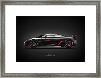 The Agera Rs Framed Print