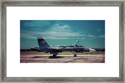 The Aggressor Framed Print by Richard Booth