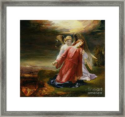 The Agony In The Garden Framed Print by George Richmond