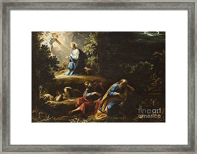 The Agony In The Garden Framed Print by Guiseppe Cesari