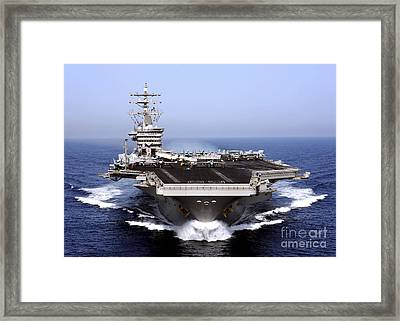 The Aircraft Carrier Uss Dwight D Framed Print by Stocktrek Images