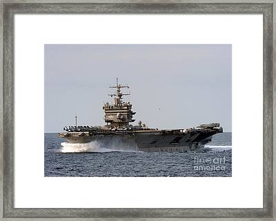the aircraft carrier USS Enterprise Framed Print by Celestial Images