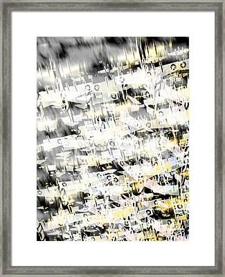 Flight Abstract Vertical Framed Print by Tony Rubino