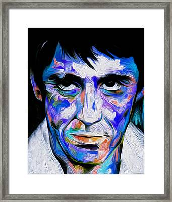 The Al Pacino Scarface By Nixo Framed Print