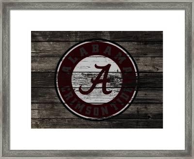 The Alabama Crimson Tide 3a             Framed Print